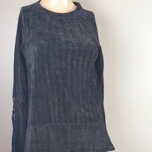 💙NWOT Knox Rose Chenille Black Sweater